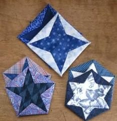 Fabric Folded Star Coasters