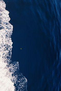 blue, blue ocean from above