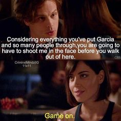 """Game on"" Criminal Minds 11:11, ""Entropy"""