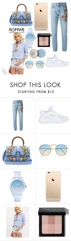 """""""Untitled #22"""" by anabuzea1107 ❤ liked on Polyvore featuring Gucci, NIKE, Lacoste and Bobbi Brown Cosmetics"""