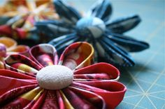 kanzashi flowers. mine never turned out this nice