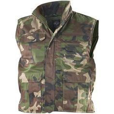 Mil-Tec Ranger 8 Pocket Woodland Vest Cold weather insulated vest In. Flak Jacket, Army Surplus, Tactical Vest, Woodland Camo, Camo Patterns, Hand Warmers, Cold Weather, Ranger, Military Jacket