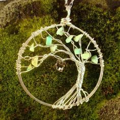 """tree of life necklace-wouldn't this be cool as a """"mother's"""" necklace made with gemstones?"""