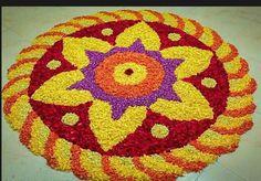 Flower Rangoli, Rangoli Designs, Tree Skirts, Floral Design, Christmas Tree, Rugs, Holiday Decor, Blouse, Flowers