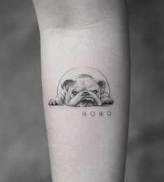 Cute Dog Tattoo Ideas Art And Design Cuded Com - Cute Dog Tattoo Ideas January Ere Leave A Comment Ladies Usually Choose Very Popular Tattoos Of Dog Paws On The Buttocks And Chest The Dog Is The Most Trusted Mans Friend It Small Dog Tattoos, Little Tattoos, Tattoos Of Dogs, Tattoo Bulldog, French Bulldog Tattoo, Boxer Dog Tattoo, Horse Tattoos, Cute Tattoos, Body Art Tattoos