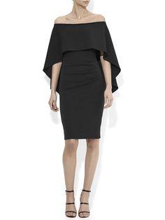 Aerin Black Crepe Dress – Montique Halter Jumpsuit, Halter Gown, Peplum Dress, Mother Of The Bride Looks, High Tea Dress, Teal Fabric, Navy Color, Crepe Dress, Wardrobe Staples