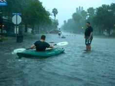 Gulfport Beach Underwater, Downtown Streets Flooded, Kayakers Spotted - Gulfport, FL Patch