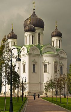 St., Catherine's Cathedral, Pushkin, Russian Federation. Rebuilt and now open for worship.