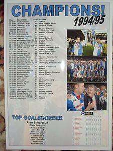 BLACKBURN ROVERS CHAMPIONS 1994/95 - SOUVENIR PRINT