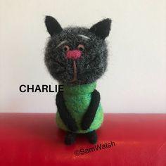 Needle Felted Cat, Needle Felted Animals, Felt Animals, Unusual Animals, Colorful Animals, Cat Lover Gifts, Cat Lovers, Felt Gifts, Quirky Gifts