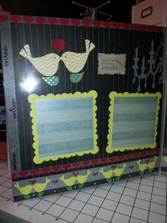 Wedding scrapbook page layout,