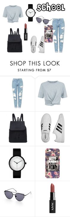 """SCHOOL"" by akidesekerii on Polyvore featuring moda, Topshop, T By Alexander Wang ve adidas"