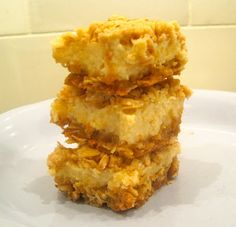 Creamy Lemon Oat Bars- YUM!!!