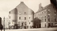 Butcher Row, Custom House and Fish Street from Greenmarket - Building to be removed. Dundee City, West End, Historical Photos, Old Photos, Custom Homes, The Row, Scotland, Louvre, Street