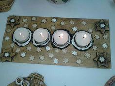 Adventní Advent Candles, Pasta Flexible, Tea Lights, Sculpture Ideas, Ceramics, Pottery Ideas, Crafts, Art, Christmas Clay