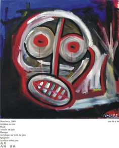 ERIC ISSEMBE GABON African, Canvas, Painting, Pocket, Mascaras, Tela, Painting Art, Canvases, Paintings