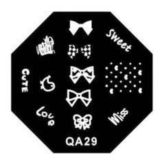 Image Surface Stamping Nail Art Plates QA Series Type Code QA29 >>> Learn more by visiting the image link.
