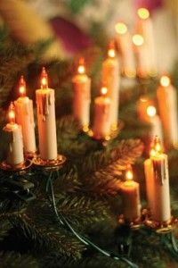 awesome Old World candle lights for the Christmas tree.  WANT!