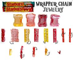 How To Make Candy Wrapper Chain Links #VIPFruitFlavors #Shop