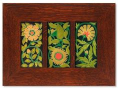 Floral Trio by Motawi Tileworks