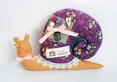 Textile cute decorative Snail in Tilda Style Tutorial