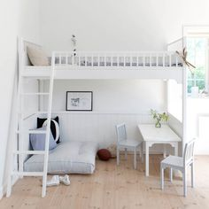 clean.simple.light. {a raised bed provides more play space}