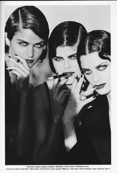 Vogue FR, Marrakesh: Helena Christensen, Kristen Mc Menamy, Petra Lindblad by Peter Lindbergh, 1990