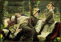 James Tissot Paintings Le Bal | Image: James Jacques Tissot - Tissot, Le Banc de Jardin