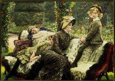 James Tissot Paintings Le Bal | Image: James Jacques Tissot - Tissot, Le Banc de Jardin