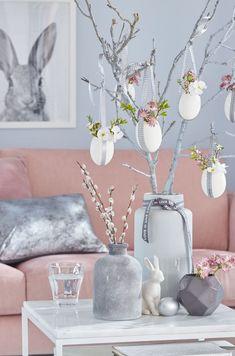 Easter decoration in the vase - Kreative Ostereier Easter Tree, Easter Wreaths, Easter Subday, Easter Garden, Easter Gift, Diy Osterschmuck, Easy Diy, Diy Ostern, Easter Table Decorations