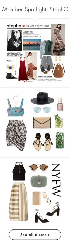 """""""Member Spotlight: StephC"""" by polyvore ❤ liked on Polyvore featuring MemberSpotlight, Miss Selfridge, Tracy Reese, Valentino, rag & bone, BAGGU, FOSSIL, MM6 Maison Margiela, Reformation and Isabel Marant"""