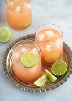 this could be my new summer fave: tequila, soda, fresh grapefruit & agave with a squeeze of lime. #tequilacocktails