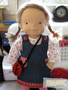 Kate - sculpted cloth doll by Lalinda.pl