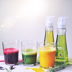 Rainbow Juice Trio Recipes - Turntable Kitchen #fearnomess #stylebymethod @method #sponsored
