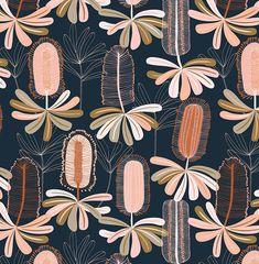 Design, pattern, colour Textile and surface pattern design Aboriginal Patterns, Aboriginal Art, Illustration Blume, Graphic Illustration, Textiles, Textile Patterns, Flora Pattern, Patterns In Nature, Organic Patterns