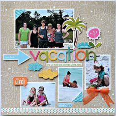 Tropical vacation - Scrapbook.com