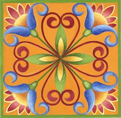 Sunshine Orange Needlepoint Kit by Stephanie Stouffer from www.artneedlepoint.com