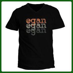 Idakoos - Egan repeat retro - Male Names - V-Neck T-Shirt - Retro shirts (*Amazon Partner-Link)