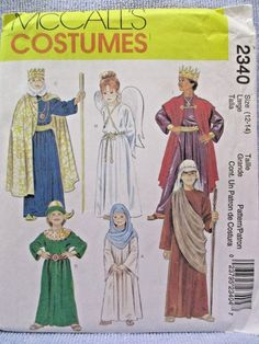 McCalls Costume Sewing Pattern 2340 Child Size 12-14 Bible Robes Uncut 2001 #McCalls