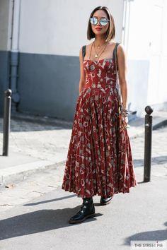 Aimee Song Outside Dior / Paris Fashion Week SS18