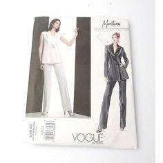 Terrific Photo sewing pants plus size Tips Vogue Pattern Montana Plus Size 18 20 22 Pants Jacket Paris Original Vogue Paris, Vogue Patterns, Sewing Patterns, Montana, Plus Size Tips, Sewing Pants, Duster Coat, About Me Blog, The Originals