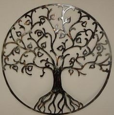 tree of life metal cut-out metal cut out, tree of life