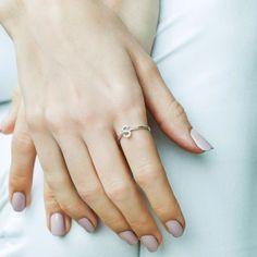 S Diamond Initial Ring - Plukka