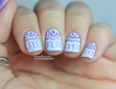 31 Day Nail Art Challenge - Day 6: Violet Nails