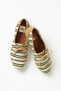 I love the style of shoe and the stripes!