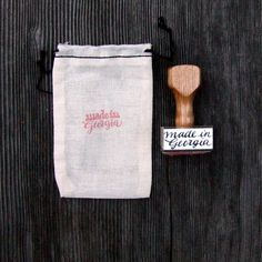 made in Georgia, Rubber Stamp, Modern Calligraphy Stamp, Hand Lettered Stamp, made in Your State