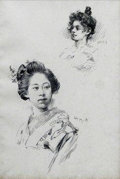 江戸時代 歴史 絵画 日本の女性 by Robert Frederick Blum