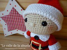 "Street grandmother: ""TELMO"" little helper Santa Claus Chrochet, Free Pattern, Hello Kitty, Crochet Hats, Xmas, Knitting, Mini, Elfa, Diy Ornaments"