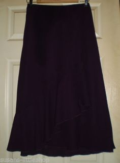 Purple Calf Length Skirt by Bonmarche, Size 14