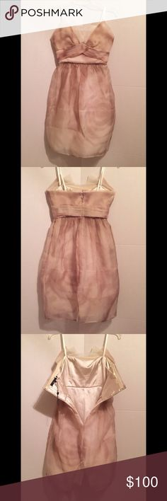 BCBGMAXAZRIA strapless dress (0/XS) BCBGMAXAZRIA strapless bridesmaid cocktail dress size: 0 (XS) color: nude blush rose pink peach material: 100% silk lining & polyester condition: new (without tag) 👗 BCBGMaxAzria Dresses Strapless